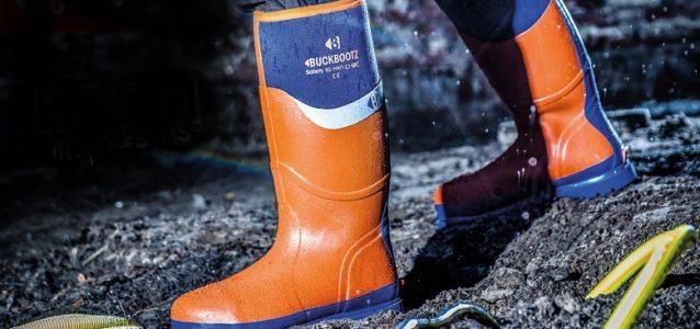 BBZ6000OR Waterproof Rubber Safety Wellington Boots Orange