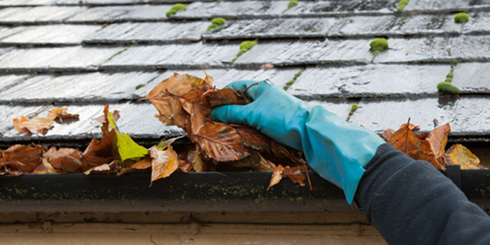 Clean your gutter before a flood occurs