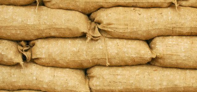 Sand bags as a flood defense
