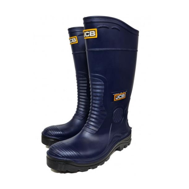 JCB HYDROMASTER Safety Wellington Work Boots Navy