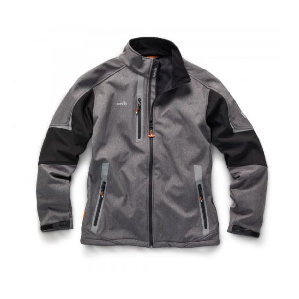 Scruffs Pro Softshell Work Jacket Charcoal Grey