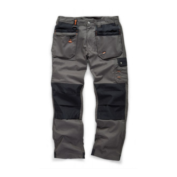 SCRUFFS WORKER PLUS Graphite Grey Work Trousers with Holster Pockets