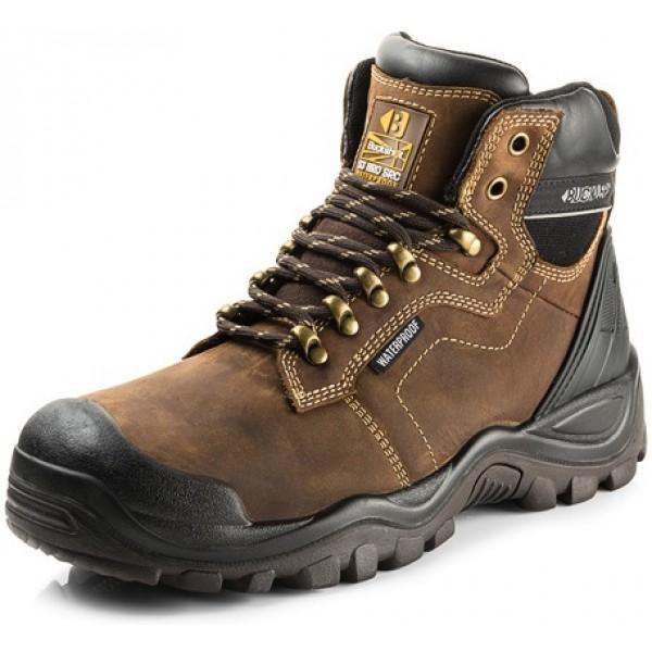 Buckler Waterproof Anti-Scuff Work Boots in Brown