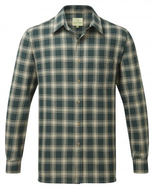 Fort Worcester Long Sleeved Work Shirt Green (Sizes M-XXXL)