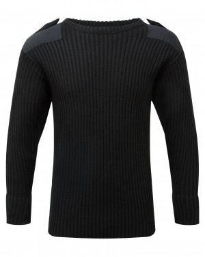 Fort Crew Neck Combat Sweatshirt Jumper Black (Sizes S-XXXXL)