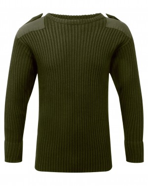 Fort Crew Neck Combat Sweatshirt Jumper Olive Green (Sizes S-XXXXL)