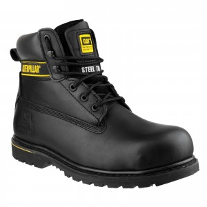 Caterpillar Holton Safety Work Boots Black (Sizes 6-15)