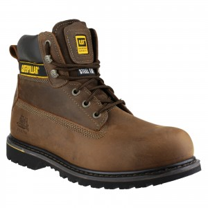 Caterpillar Holton Safety Work Boots Brown (Sizes 6-15)