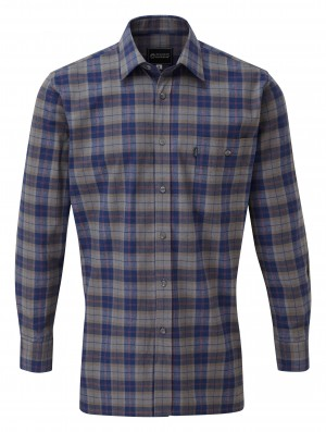 Fort Salford Long Sleeved Work Shirt Grey (Sizes S-XXXL)