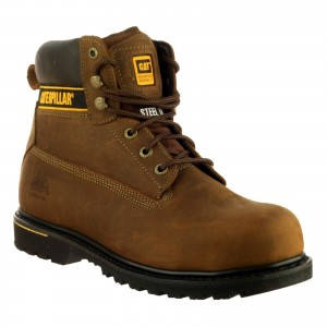 Caterpillar Holton S3 Safety Work Boots Brown (Sizes 6-13)