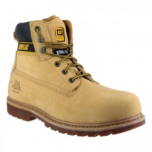 Caterpillar Holton S3 Safety Work Boots Tan Honey (Sizes 6-13)
