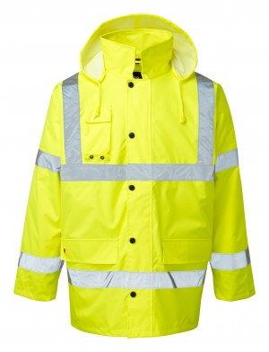 Fort Hi-Vis Waterproof Motorway Jacket Yellow (Sizes S-XXXL)