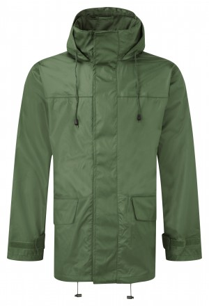 Fort Tempest Waterproof Work Jacket Green (Sizes XS-XXXL)