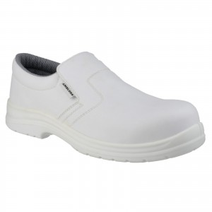 Amblers FS510 Safety Work Shoes White (Sizes 3-12)