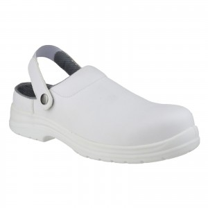 Amblers FS512 Safety Work Clog Shoes White (Sizes 3-12)