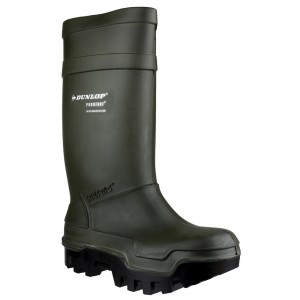 Dunlop Purofort Thermo Plus Safety Wellington Work Boots Green (Sizes 5-13)