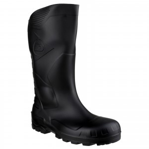 Dunlop Devon Safety Wellington Work Boots Black (Sizes 3-12)