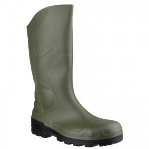 Dunlop Devon Safety Wellington Work Boots Green (Sizes 3-12)