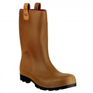 Dunlop Rig Air Waterproof Fur Lined Safety Rigger Work Boots Brown (Sizes 6-13)