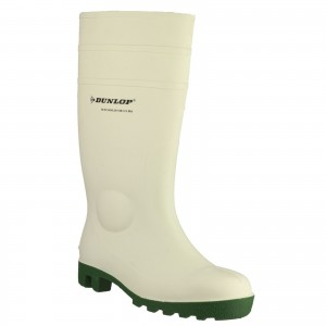 Dunlop Protomastor Safety Wellington Work Boots White (Sizes 3-13)