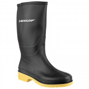 Dunlop Dulls Childrens Wellington Boots Black (Sizes 10-2)