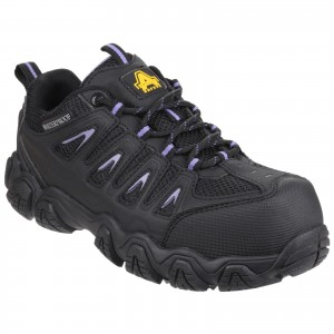 Amblers AS708 Waterproof Womens Safety Work Trainer Shoes Black (Sizes 3-8)