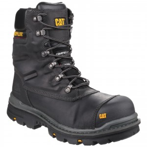 Caterpillar Premier Waterproof Safety Work Boots Black (Sizes 6-12)