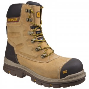 Caterpillar Premier Waterproof Safety Work Boots Tan Honey (Sizes 6-12)