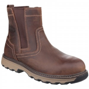 Caterpillar Pelton Safety Work Boots Brown (Sizes 6-12)