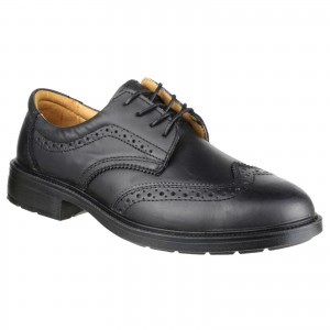 Amblers FS44 Brogue Safety Work Shoes Black (Sizes 6-14)