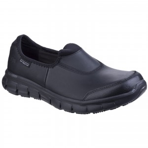 Skechers Sure Track Womens Occupational Shoes Black (Sizes 2-8)