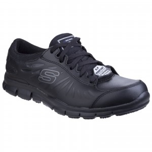 Skechers Eldred Womens Occupational Shoes Black (Sizes 2-8)