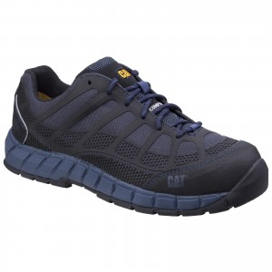 Caterpillar Streamline Safety Work Trainer Shoes Blue (Sizes 6-12)