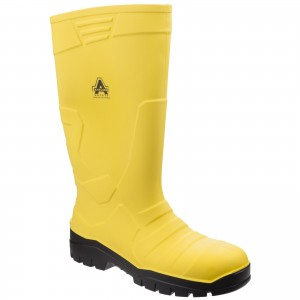 Amblers AS1007 Safety Waterproof Wellington Work Boots Yellow (Sizes 3-12)