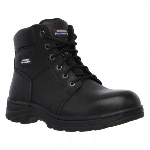 Skechers Workshire Safety Work Boots Black (Sizes 6-14)