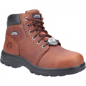 Skechers Workshire Safety Work Boots Brown (Sizes 6-14)