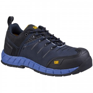 Caterpillar Byway Safety Work Trainer Shoes Blue (Sizes 6-12)