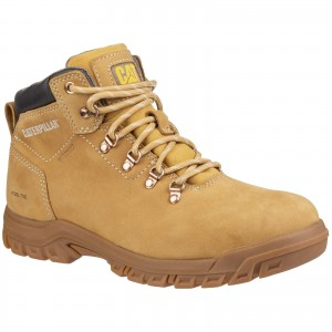 Caterpillar Mae Womens Waterproof Safety Work Boots Tan Honey (Sizes 3-8)