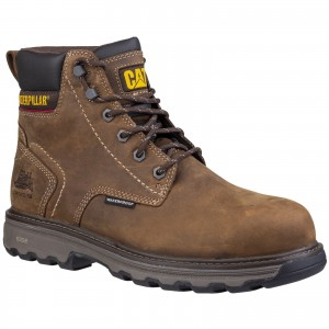 Caterpillar Precision Waterproof Safety Work Boots Brown (Sizes 6-12)