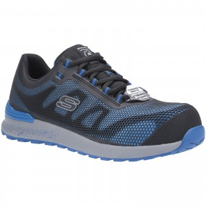 Skechers Bulklin Safety Work Trainer Shoes Blue (Sizes 6-12)