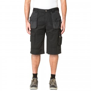 Caterpillar DL Trademark Work Shorts Black 42in Waist