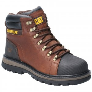 Caterpillar Foxfield Safety Work Boots Oak Brown (Sizes 6-12)