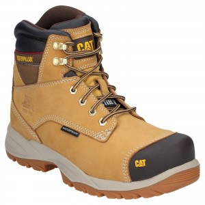 Caterpillar Spiro Waterproof Safety Work Boots Tan Honey (Sizes 6-13)