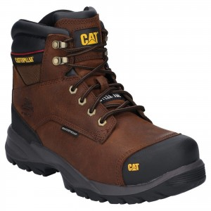 Caterpillar Spiro Waterproof Safety Work Boots Dark Brown (Sizes 6-13)