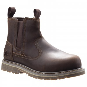 Amblers AS101 Alice Womens Safety Dealer Work Boots Brown (Sizes 3-8)