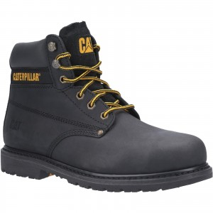 Caterpillar Powerplant Safety Work Boots Black (Sizes 6-13)