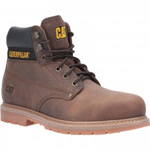Caterpillar Powerplant Safety Work Boots Brown (Sizes 6-13)
