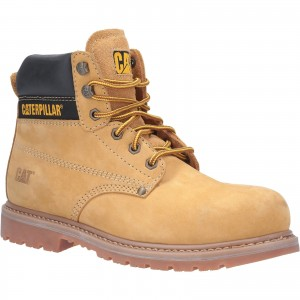 Caterpillar Powerplant Safety Work Boots Tan Honey (Sizes 6-13)