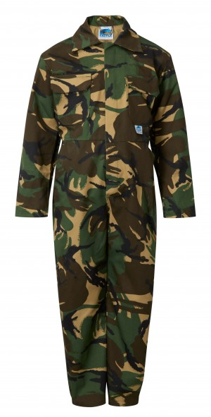 Fort Tearaway Childrens One-Piece Coverall Camouflage (Various Sizes)