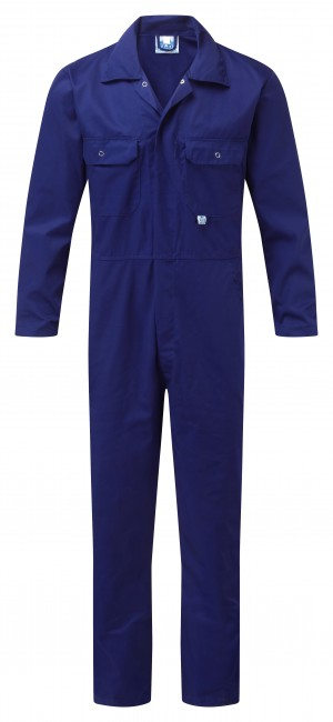 Fort Stud Front One-Piece Mechanics Coveralls Royal Blue (Various Sizes)
